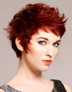 red-croppedhairstyle-for-women-in-30